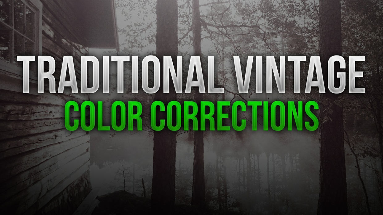 "Traditional Vintage ""Aged"" Photoshop Color Correction Pack"