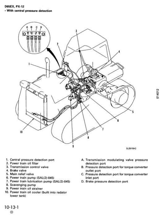 Komatsu Crawler Dozers D65E-12, D65EX-12, D65P-12, D65PX-12 Workshop Service Manual