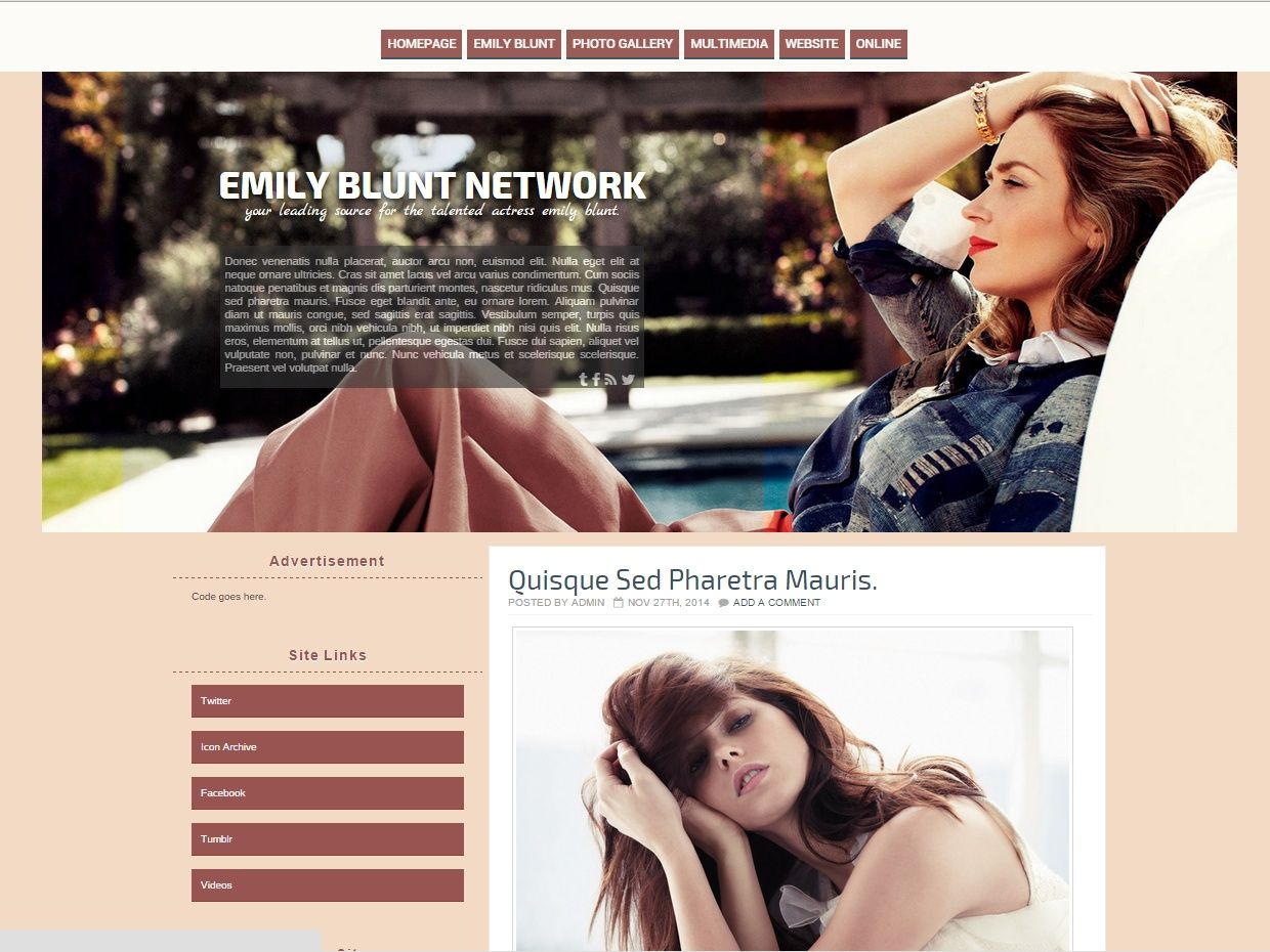 Wordpress Theme - 02