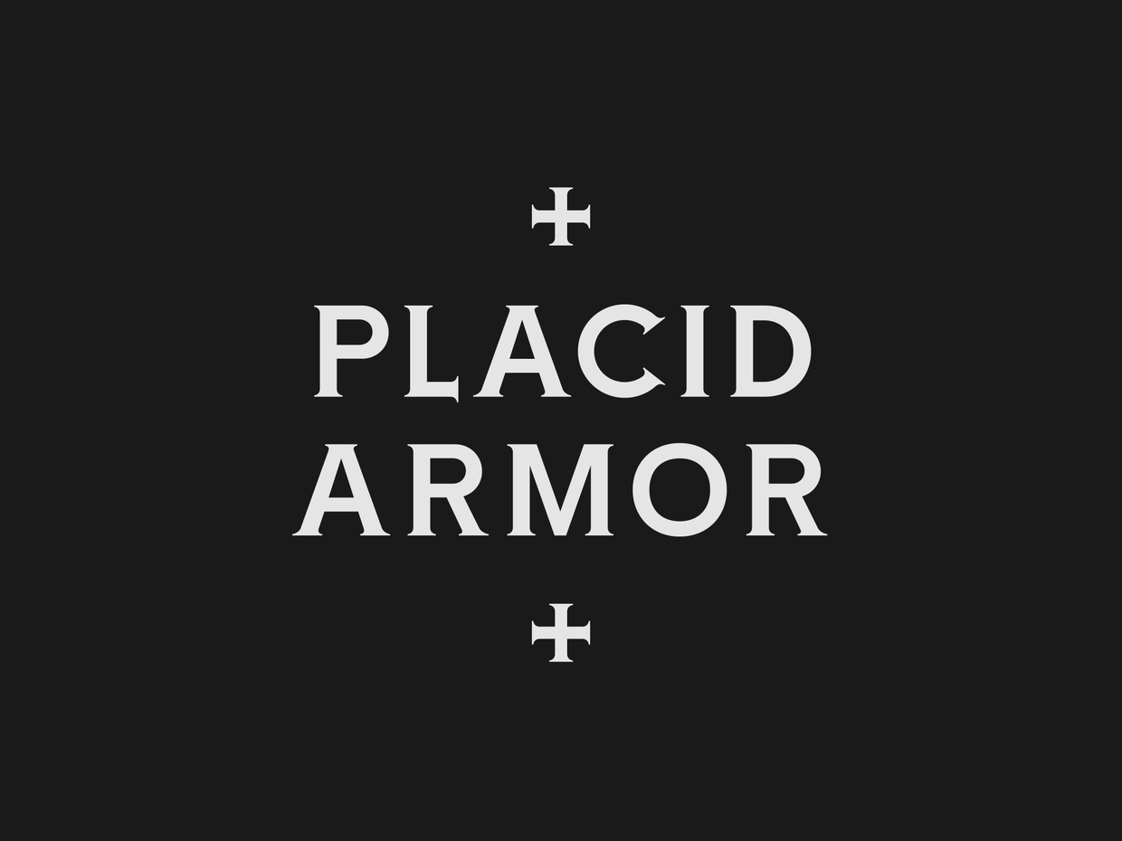 Placid Armor Medium Typeface