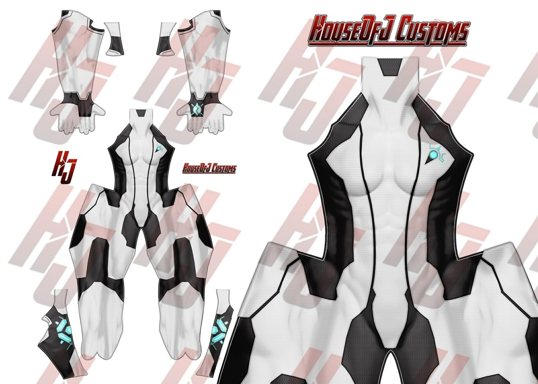 Zero Suit Samus (Black and White Skin)
