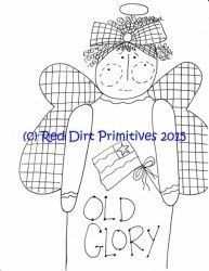 #5 Old Glory All line/stitcherys drawing ePattern