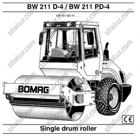 Bomag BW 211 D-4, BW 211 PD-4 Single Drum Roller Operation & Maintenance Manual