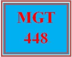 MGT 448 Week 1 Globalization Questionnaire