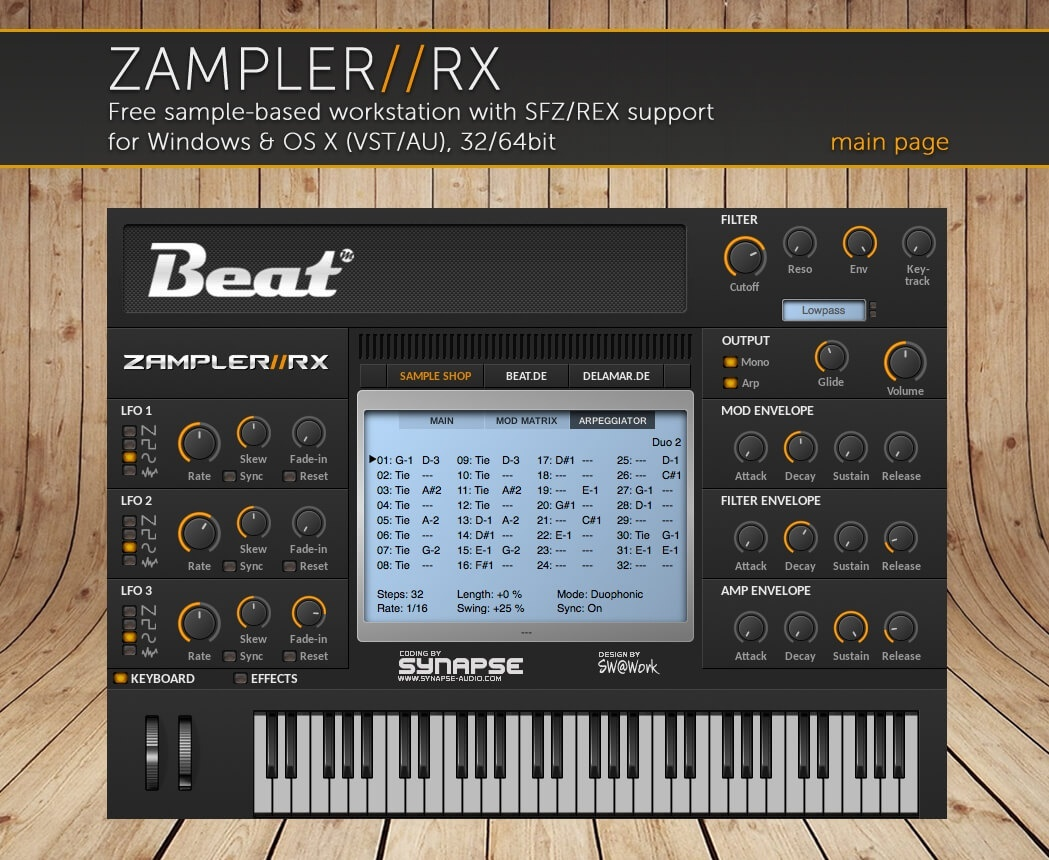 EDM PUNK – 44 patches for Zampler//RX workstation (Win/OSX plugin included)