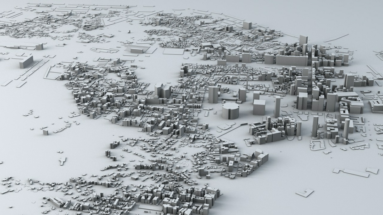 Rio De Janeiro Downtown Streets and Buildings Architectural 3D Model