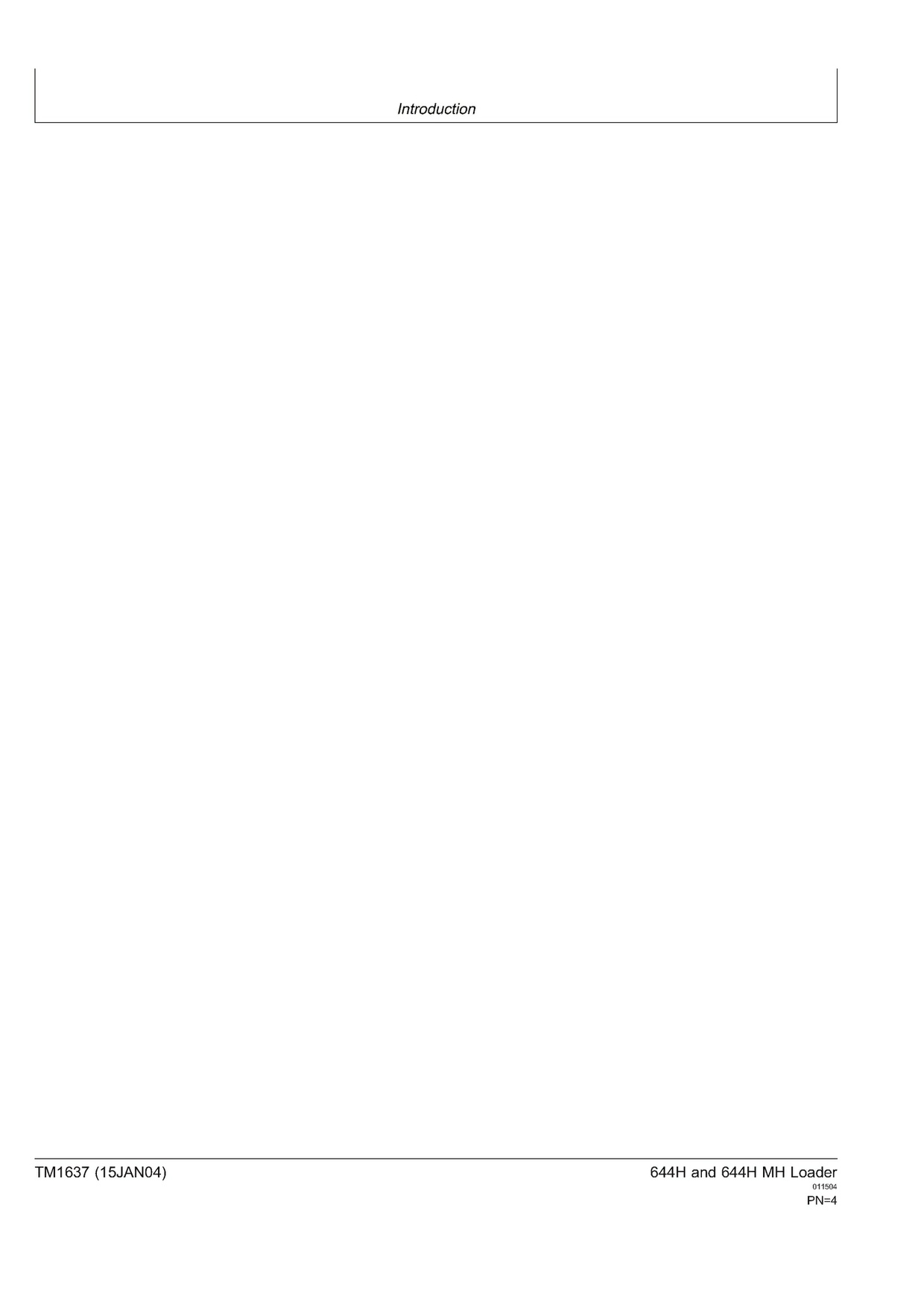 PDF Download John Deere 644H 644H MH WHEEL LOADER OPERATION AND TEST MANUAL DOWNLOAD TM1634