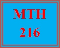 MTH 216 Week 1 MyMathLab® Study Plan for Week 1 Checkpoint