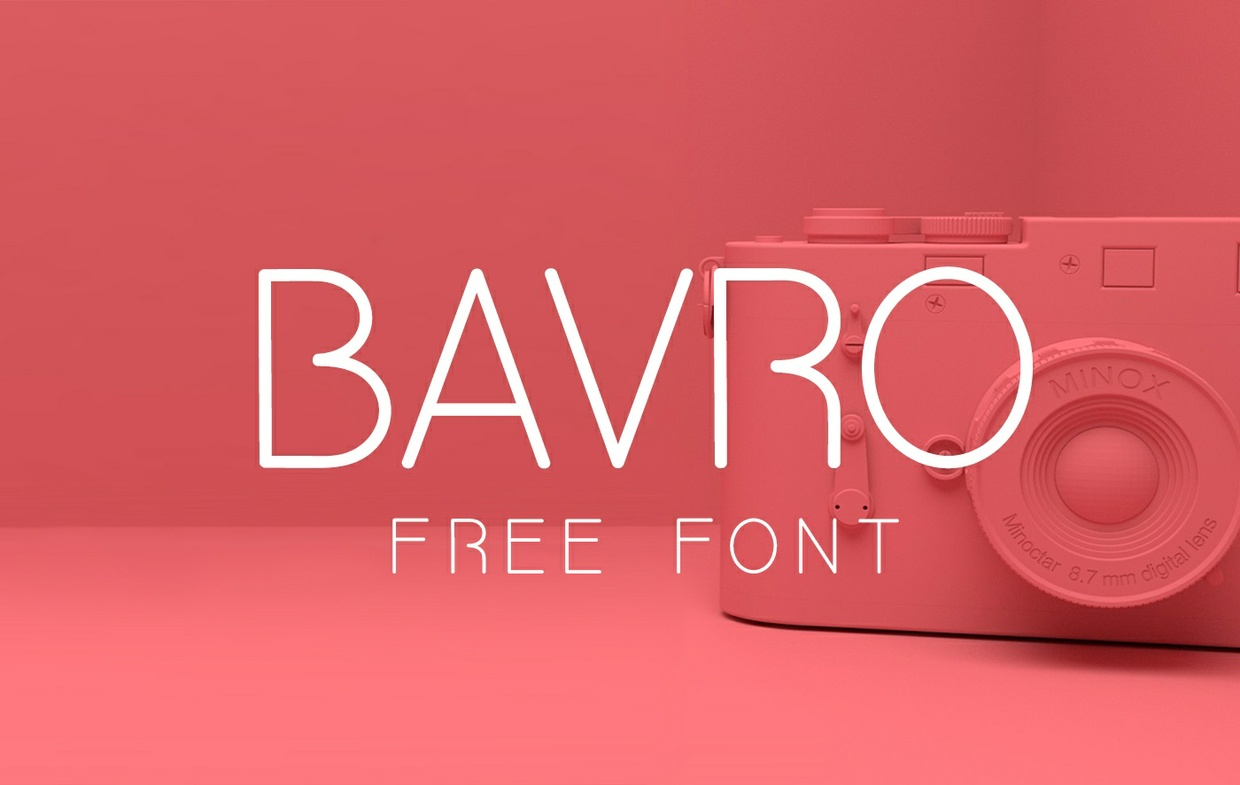 BAVRO FONT (UPPERCASE ONLY)