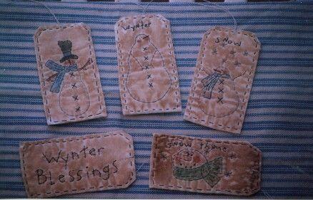 #07 Prim Snowman Tags E Pattern
