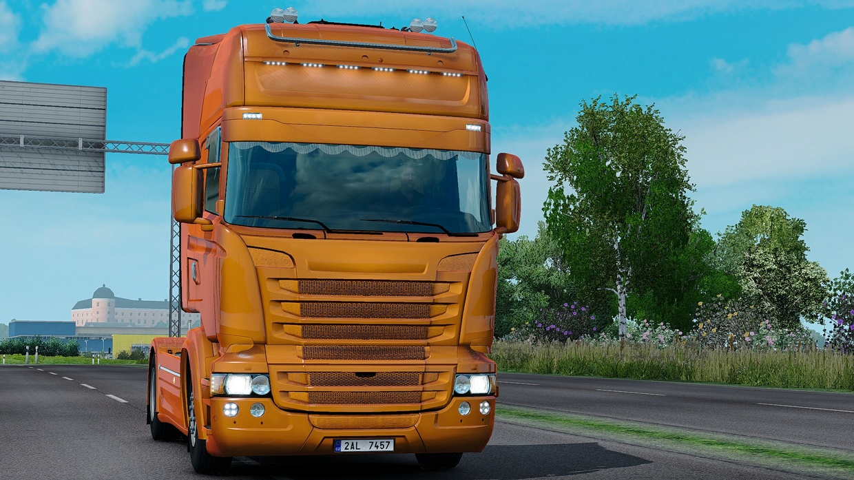 Scania RJL Custom Holland / Danish / Orange Interior ETS 2