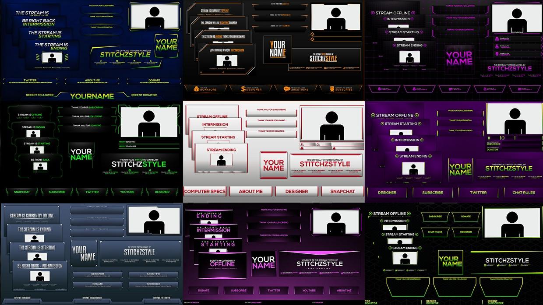 Twitch Stream Rebrand Template Bundle Pack 2