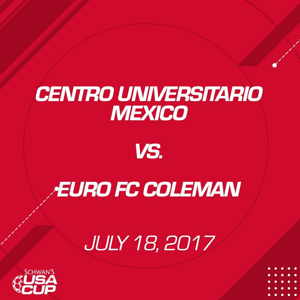 Boys U19 Silver - July 18, 2017 - Centro Universitario Mexico vs Euro FC Coleman