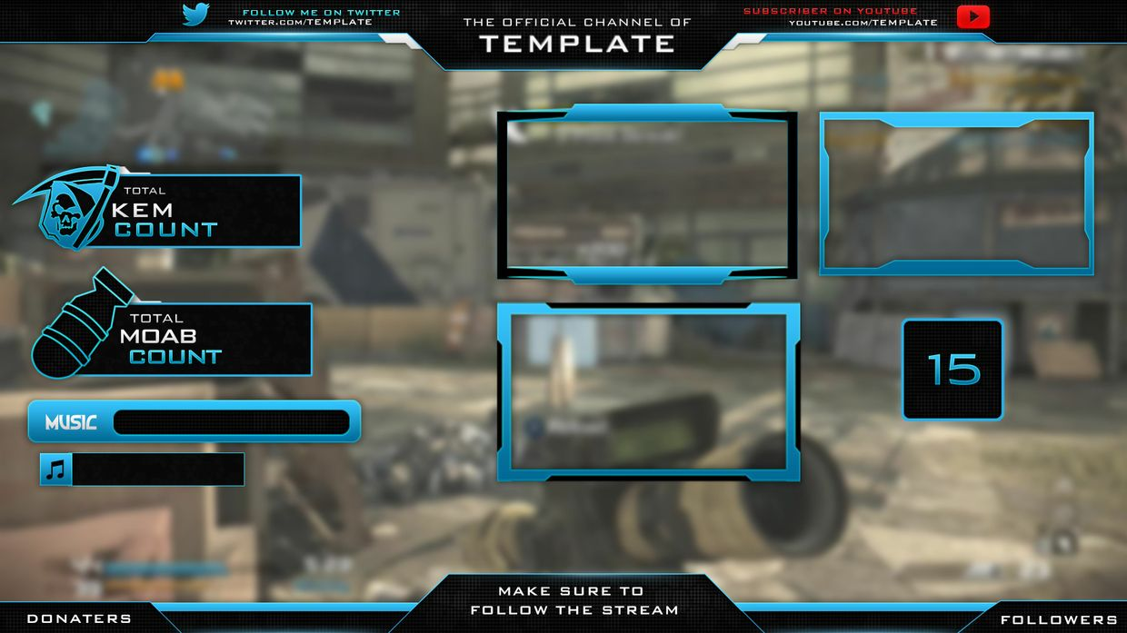Twitch Overlay Template Psd Download Twitchboard Free Twitch