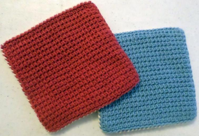 Tunisian Crochet Hotpad