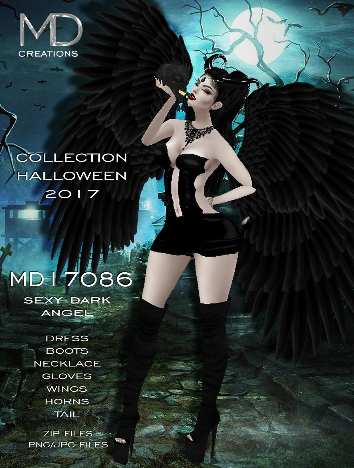 MD17086 - Sexy Dark Angel