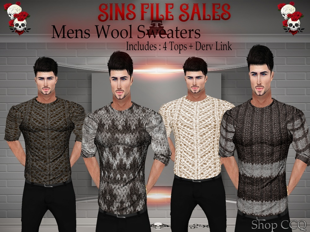 Mens Wool Sweater Set