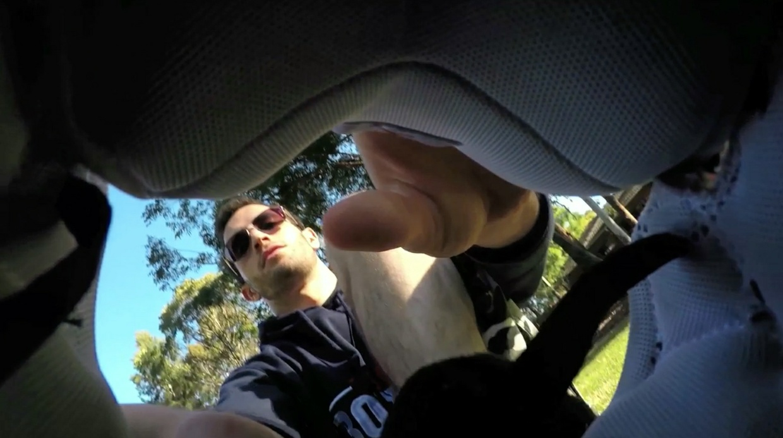 Damon shows you his feet