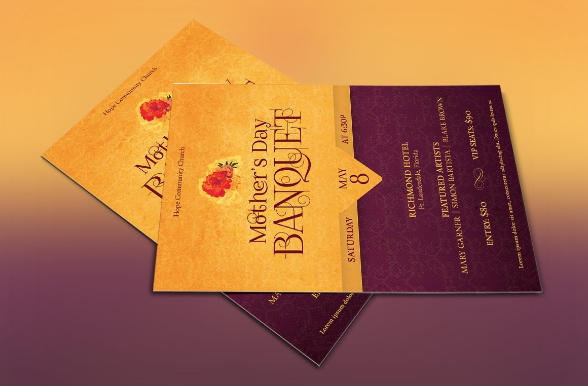 Mothers Day Banquet Flyer Template