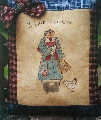 #321 I Love Chickens E Pattern