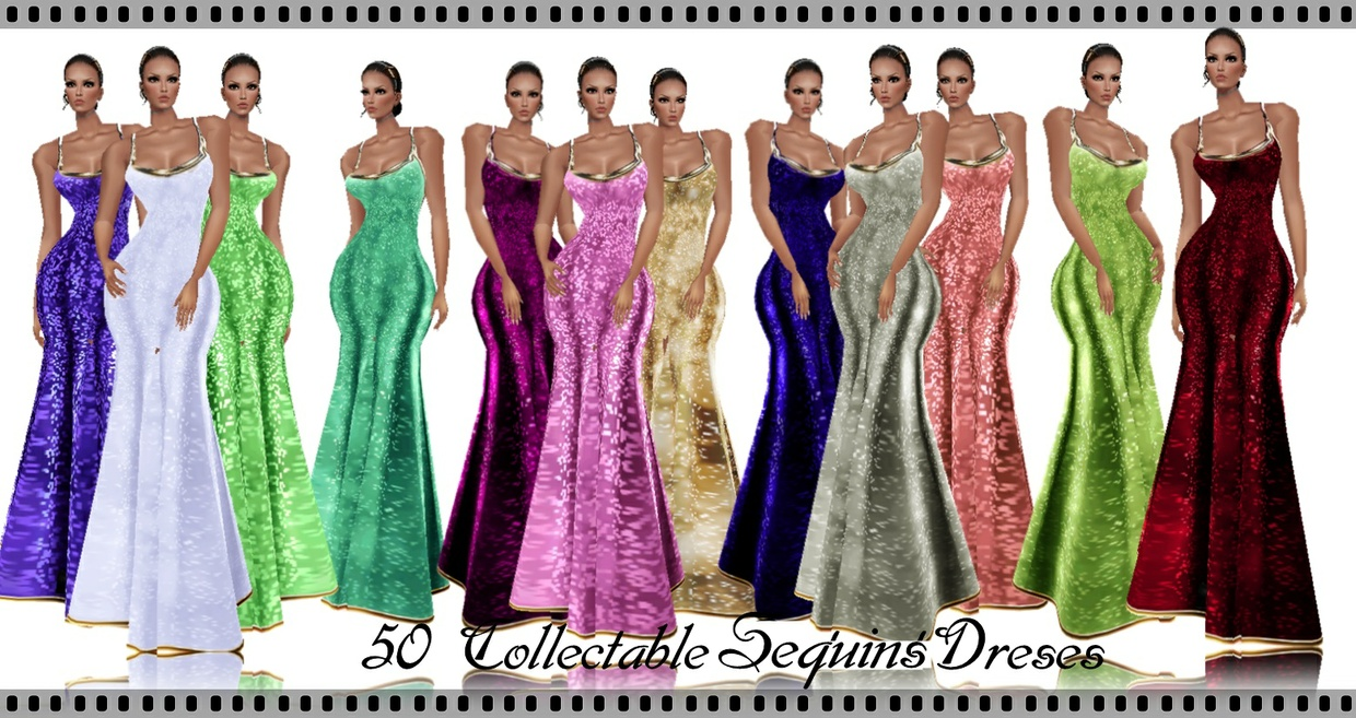 50-Collectable sequins Dresses