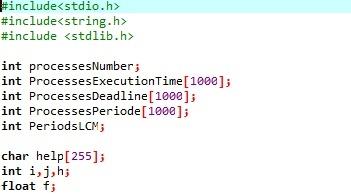 EDF c code