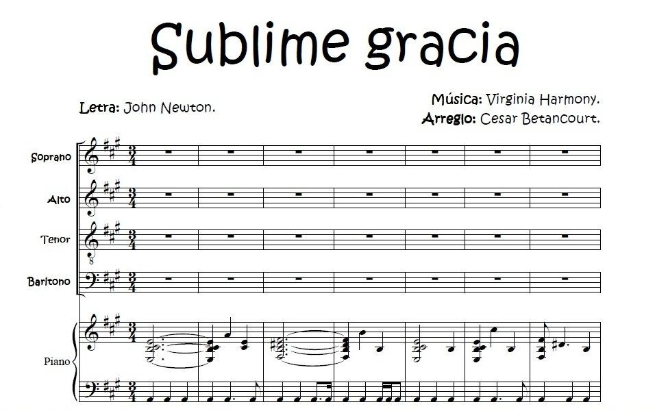 Sublime Gracia - Score Voces
