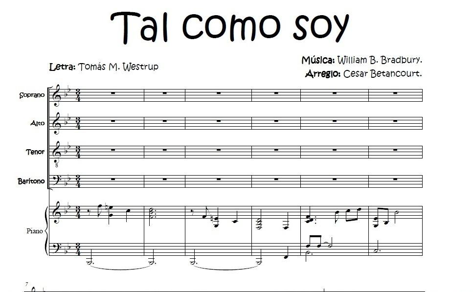 Tal Como Soy - Score Voces