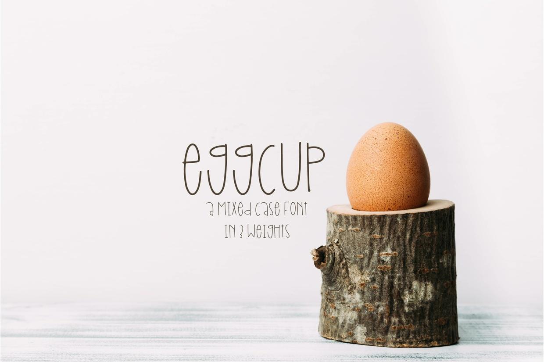 Eggcup - A Mixed Case Font