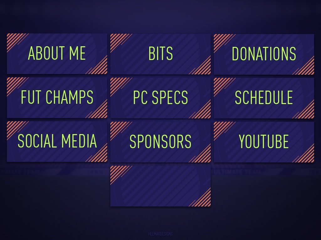 FIFA 18 Customisable Twitch Panels