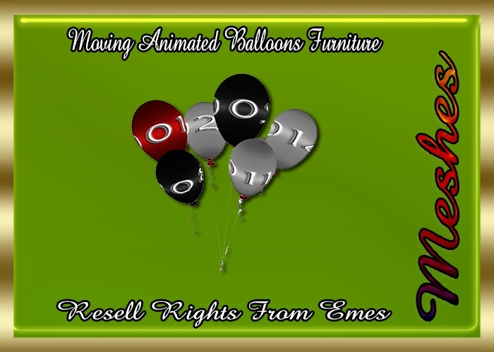 Moving Animated Balloons Furniture Catty Only!!!