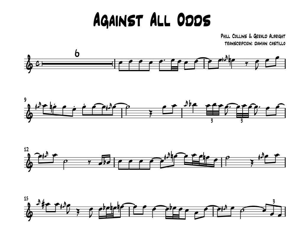 "Gerald Albright - ""Against All Odds"" - Sax alto."