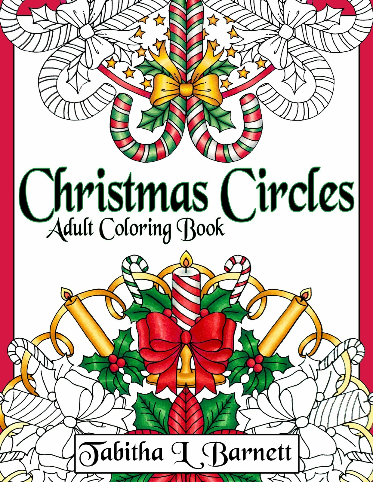 Christmas Circles Adult Mandala Coloring Book PDF