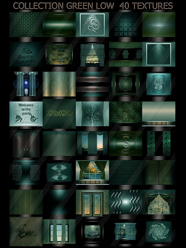 COLLECTION GREEN LOW 40 TEXTURES ROOM