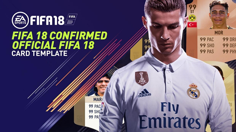 FIFA 18 Official Confirmed Card Templates - 5 FIFA 18 Card Templates