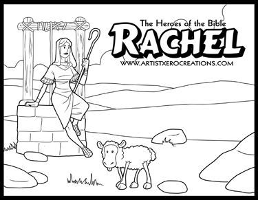 the heroes of the bible coloring pages rachel