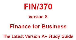 FIN 370 Education for Service--tutorialrank.com