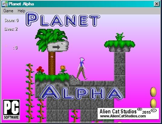 Planet Alpha Platform Game