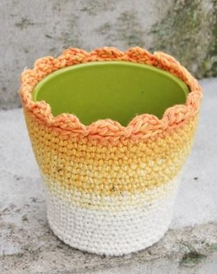 Crochet Flower Pot Cover