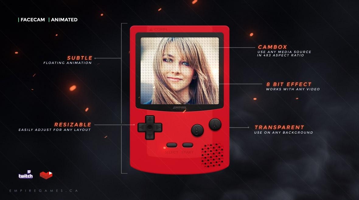 Gameboy Animated Cambox / Facecam
