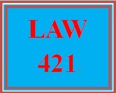 LAW 421 Week 2 Learning Team Charter