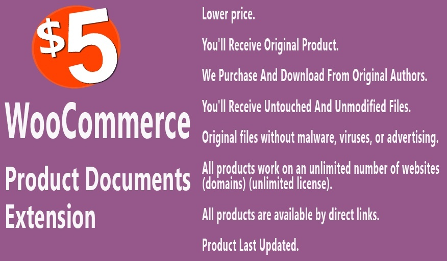 WooCommerce Product Documents Extension