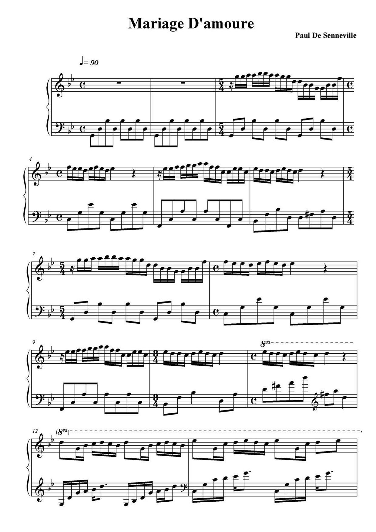 George Davidson Mariage D Amour Sheet Music