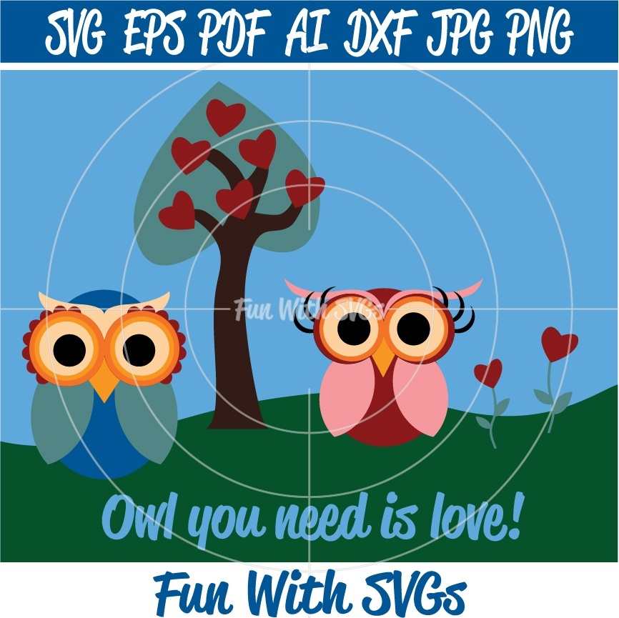 Owls - Herbie and Herbietta - SVG, High Resolution Printable Graphics and Editable Vector Art