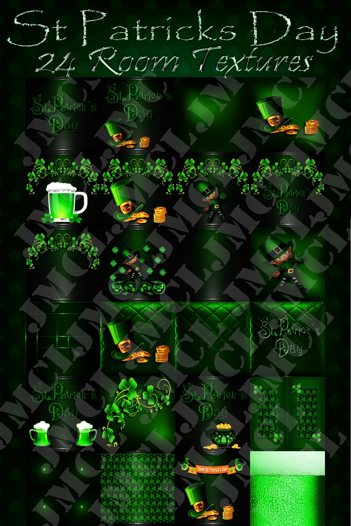 St Patricks Day - Room Textures