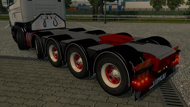 Parlocks with mudflap for Scania RJL R (Euro Truck Simulator)
