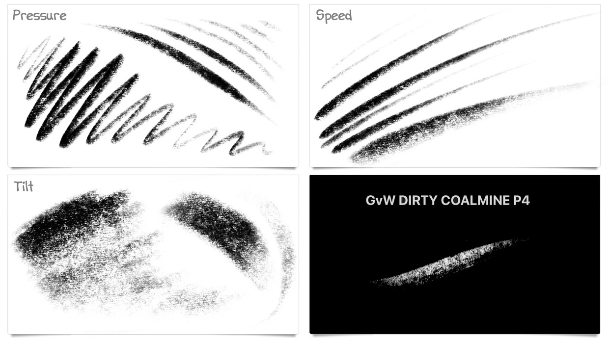 The DIRTY COALMINE: A New Charcoal Pencil Brush for Procreate