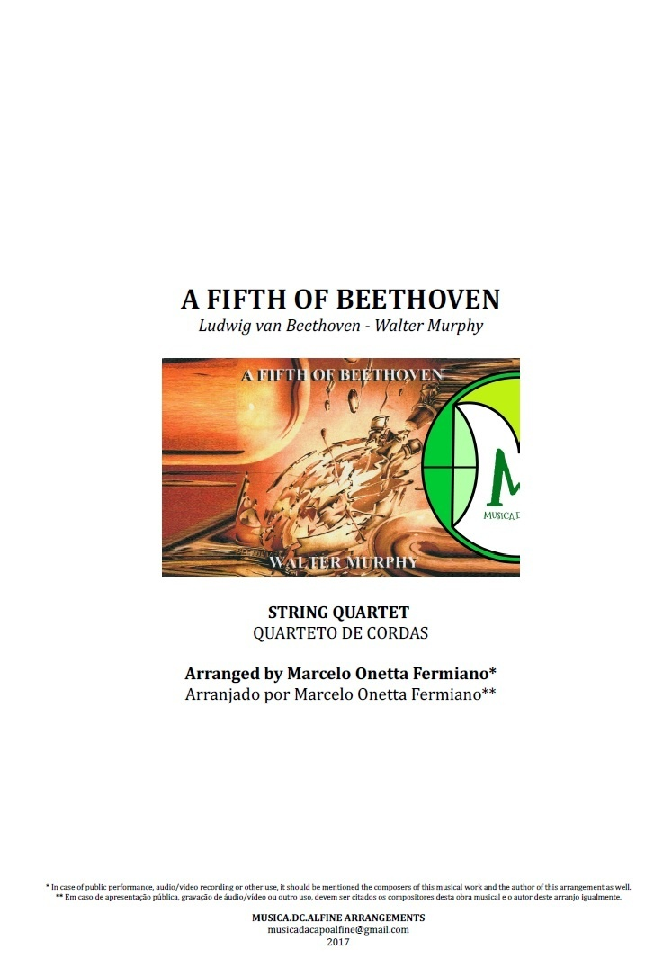 A Fifth Of Beethoven | Walter Murphy | Quarteto de Cordas | Partitura Completa