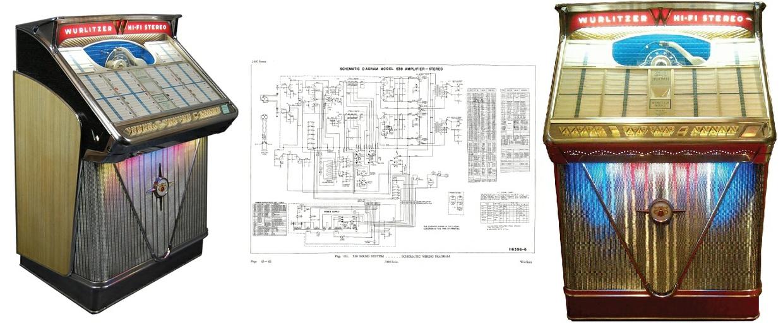 Wurlitzer 2400 Series 538 Amplifier Schematic Hi-Resolution