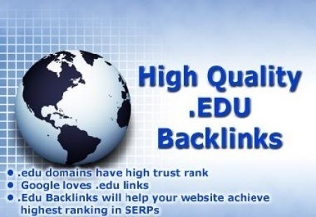 49 .edu and .gov backlinks to your website